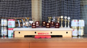 die Pokale und Preise der einzelnen Turnieren