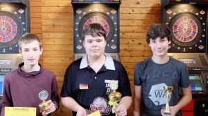 Im Jugendturnier setzte sich Jamal Schulte( Mitte) vor Noah Walter( links) und Nico Arbogast durch